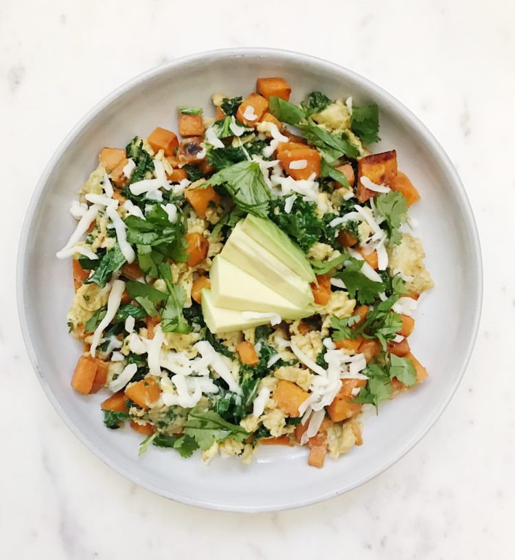 sweet potato hash meal prep